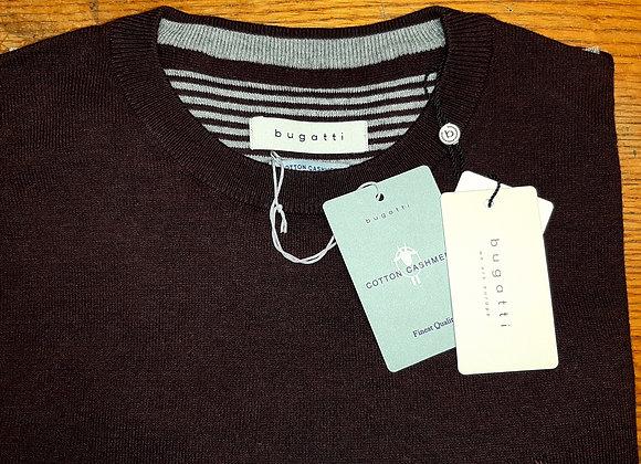 Burgundy round neck sweater by Bugatti.