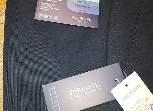 NAVY COTTON STRETCH TROUSERS BY BRUHL