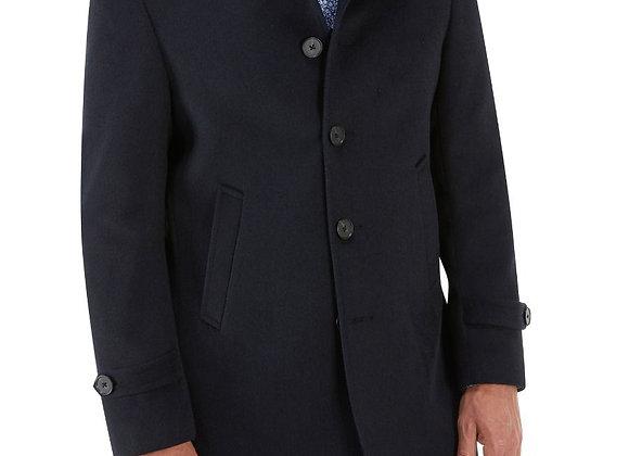 Navy casual overcoat