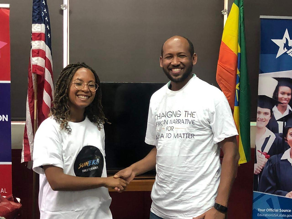 Farai Mubaiwa- Co-founder of Africa Matters and Ephrem Bekele( Executive Director of SunEko Ethiopia)
