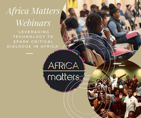 Leveraging technology to spark critical dialogue is a trend within the impact community. Live videos are engaging as they reach those excluded by geographical location, and allow for commentary and interaction during the video. Subsequently, Africa Matters has introduced webinars.