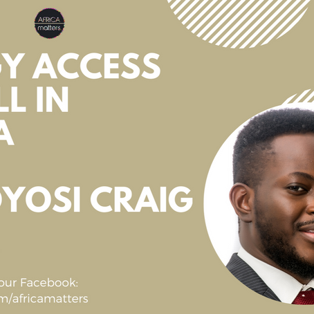 The State and Future of Energy in Africa with Dr Toyosi Craig