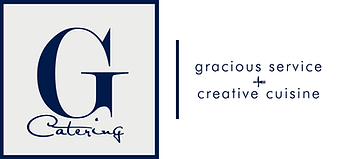 G Catering: Gracious Service Creative Cuisine Logo