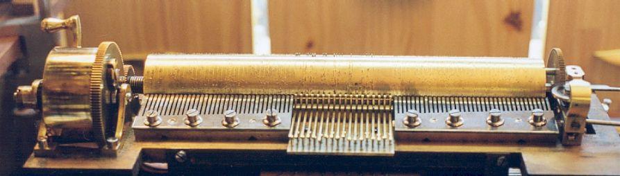 Mécanisme d'une boite à musique