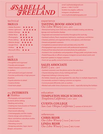 Graphic Design I: Résumé Design