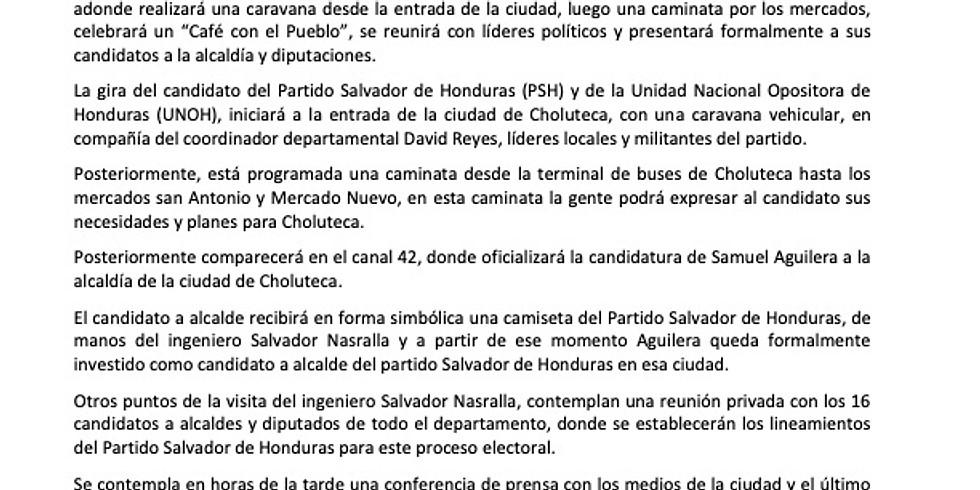 Visita a Choluteca