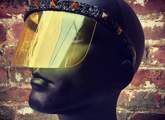 Black Tourmaline & Tiger's Eye Visor