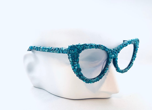 Turquoise Cat Eye Rock Candy