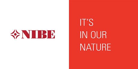 Nibe Logo. Tagline: it's in our nature