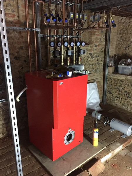 Copper piped plant room and guages