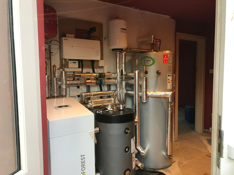 Compact plant room and cylinder house