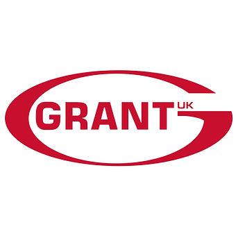 Grant UK logo in a red semi circle