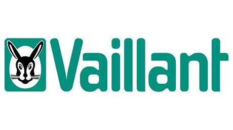 vaillant logo. Green with a rabbit's face.