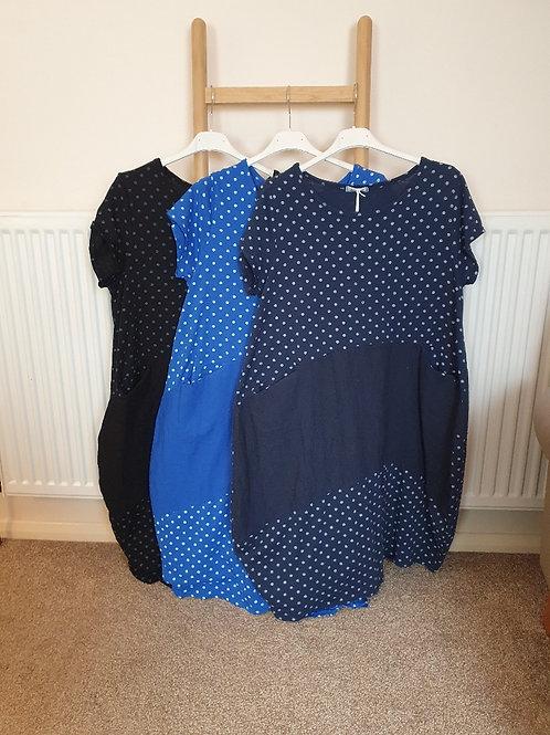 The Zara Spotty Jersey and Linen Dress - Sale Item - NO RETURN