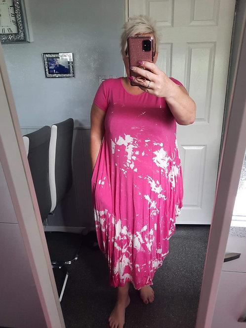 The Splash Print Parachute Dress - Sale Item - NO RETURN