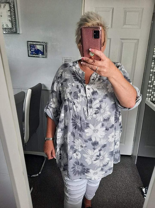 The Frankie Floral Shirt - Plus Size