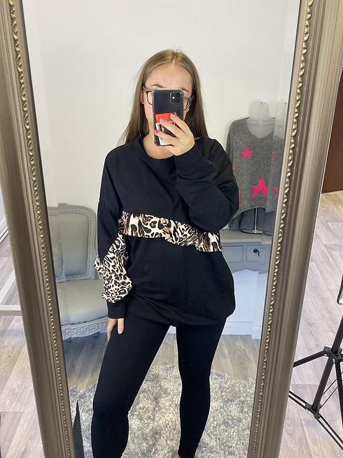 The Ursula Leopard Frill Sweatshirt