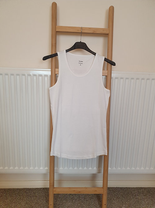 The Cotton Vest Tops - White