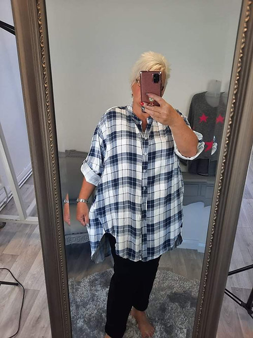 The Checked Oversized Shirts - Plus Size