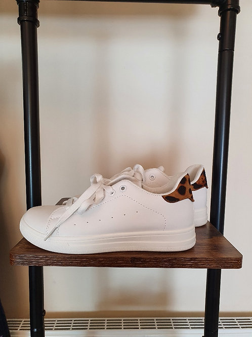 The Plain Trainers with Leopard Back - Sale Item - NO RETURN