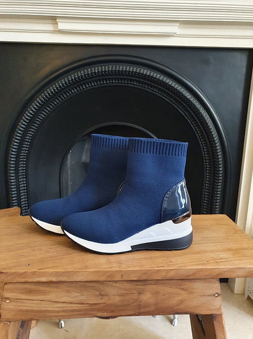 The Epping Sock Wedge Ankle Boots - Sale Item  - NO RETURN