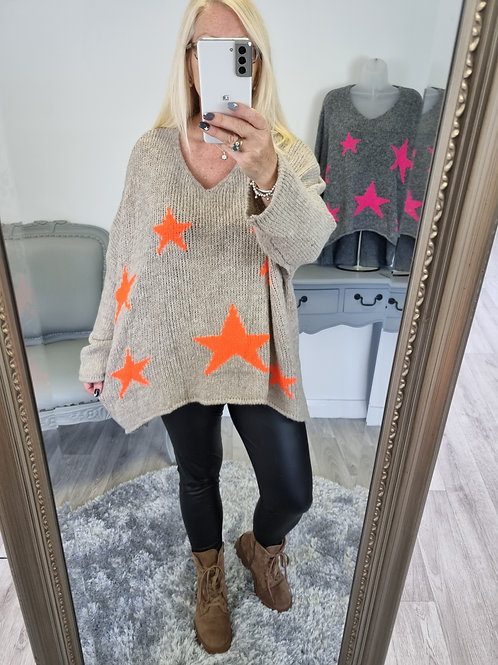 The Evelyn Star Knitted Jumper