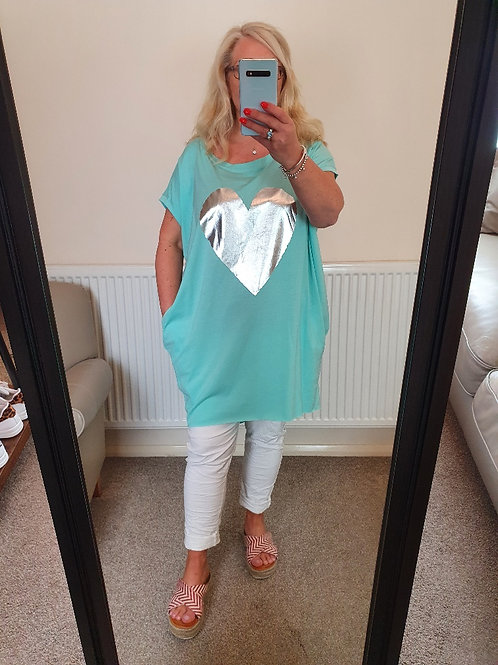The Silver Heart Polly Pocket Tunic - Sale Item - NO RETURN