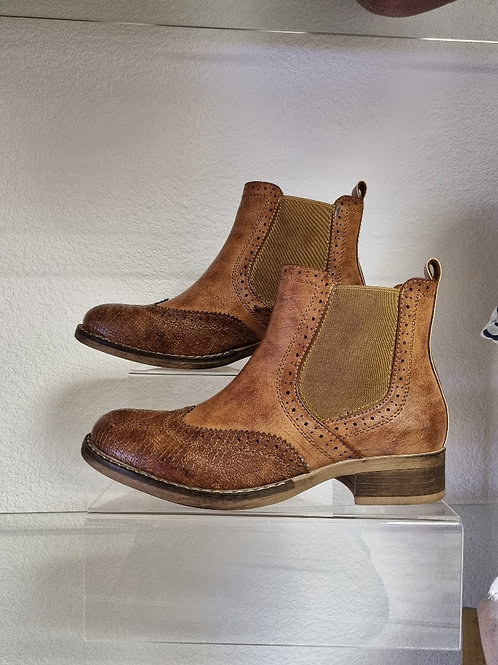 The Boston Brogue Ankle Boots