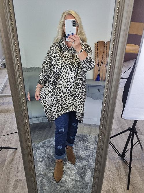 The Ingrid - Leopard Sweatshirt Hoodie