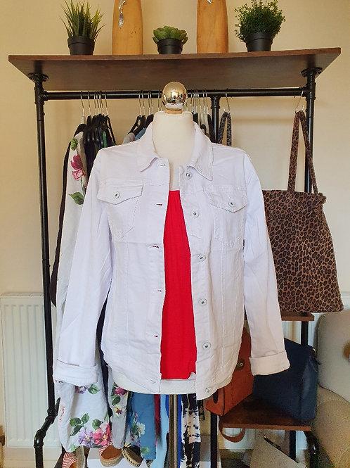 The Stretchy White Denim Jacket - Sale Item - NO RETURN
