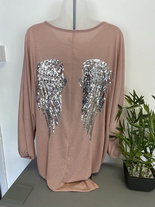 The Angela Angel Wings Oversized Tunic Top