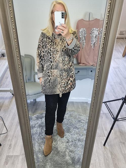 The Anya Animal Print Sweatshirt Hoodie