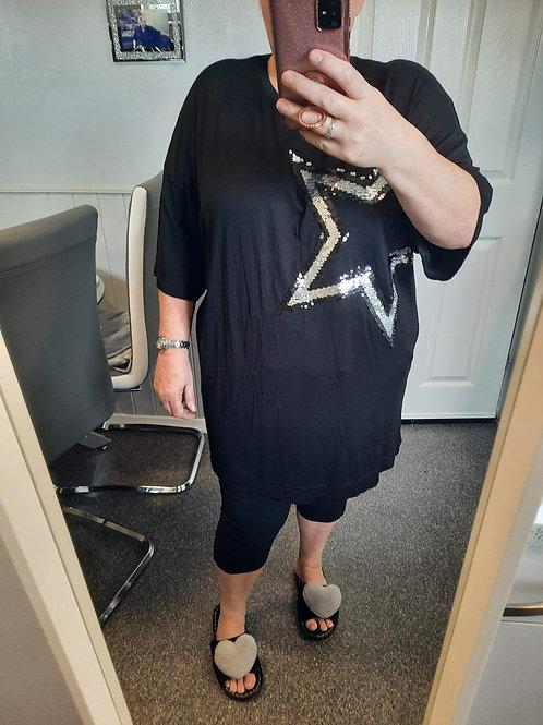 The Star Bling Tee Tunic Dress - Sale Item - NO RETURN