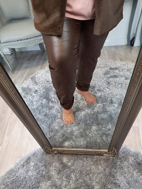 The PU Leather Look Trousers