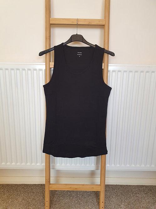 The Cotton Vest Tops - Black