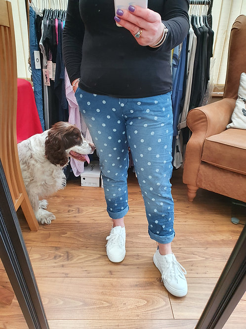 The Spotty Denim Magic Trousers - Sale Item  - NO RETURN