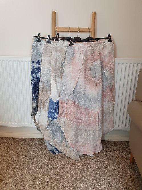 The Linen Tie Dye Trousers- Sale Item - NO RETURN