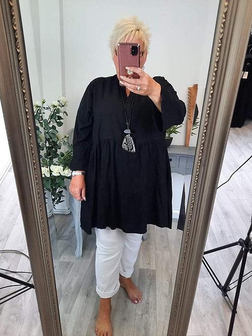 The Plain Tierd Tunic Dress - Plus Size
