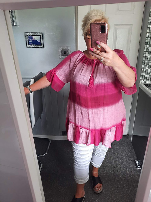 The Bonnie Tie Dye Bardot Tops - Sae Item - NO RETURN