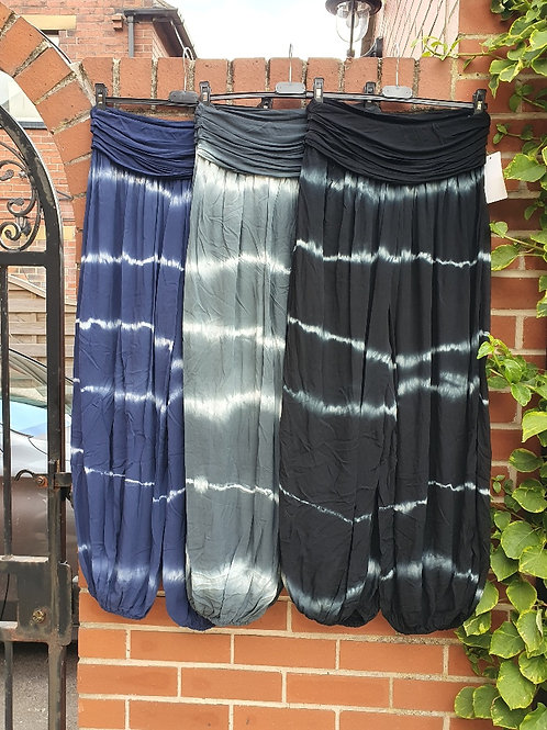 The Tie Dye Hareem Trousers - Sale Item - NO RETURN