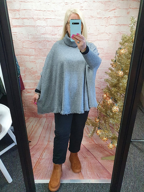The  Polly Poncho Jumper - Sale Item - NO RETURN