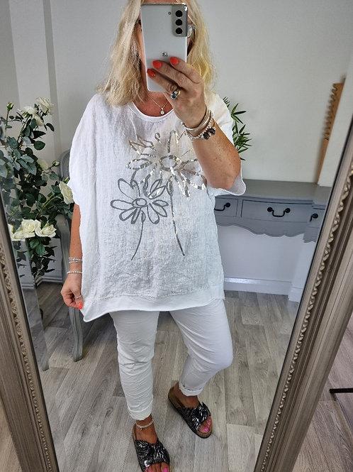 The Foil Flower T-shirt - Sale Item - NO RETURN