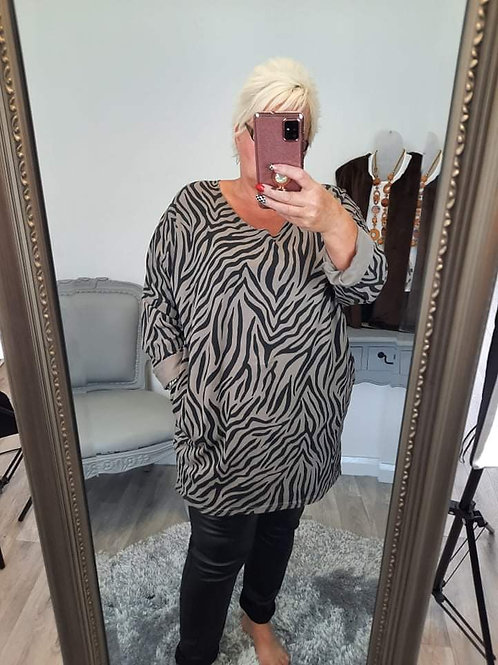 The Tiger Polly Pocket Tunic Tops - PLUS SIZE
