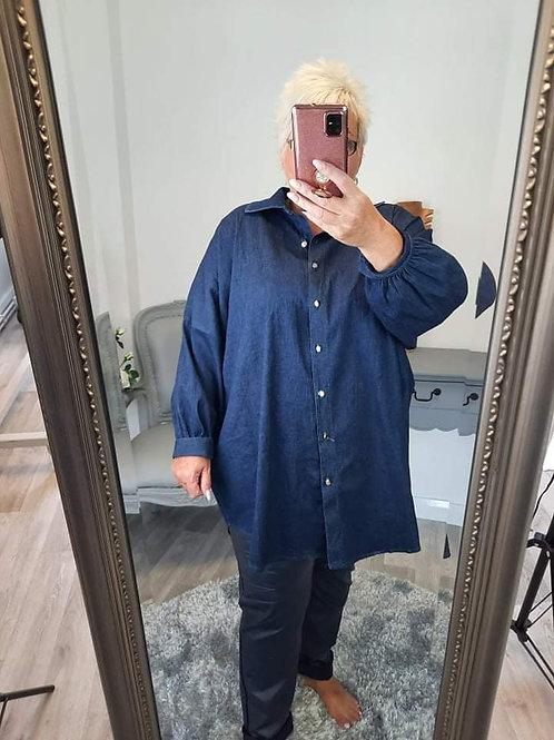 The Danica Denim Shirt - Plus Size