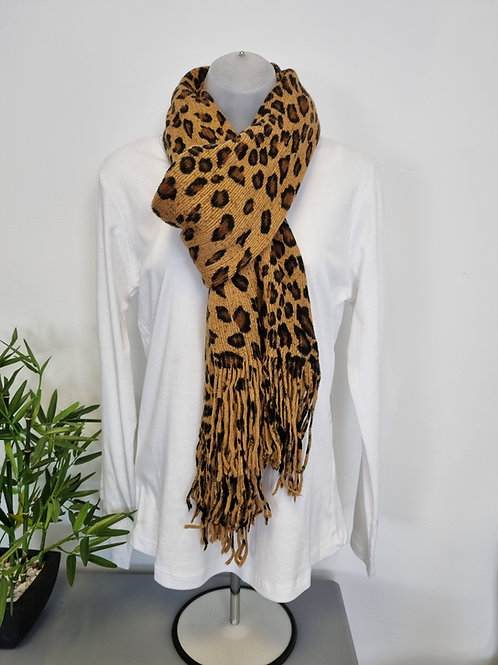 The Knitted Leopard Scarf