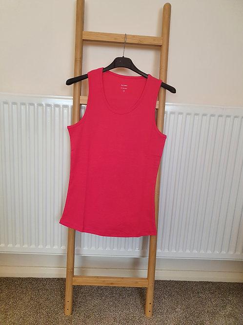 The Cotton Vest Tops - Fuschia Pink