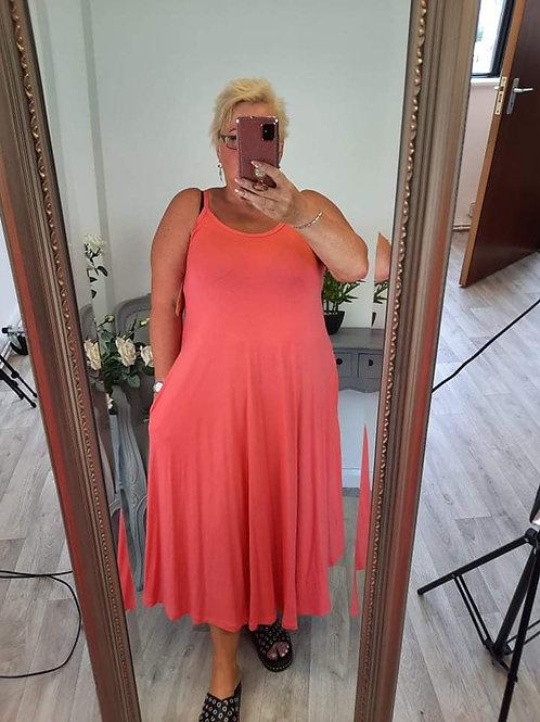 The Kara Strappy Dress - Coral