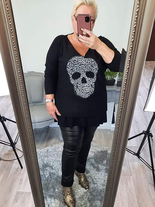 The Fine Knitted Skull Top