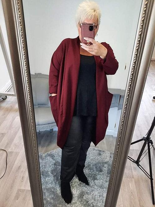 The Bubble Jersey Cardigan Jacket - Plus Size