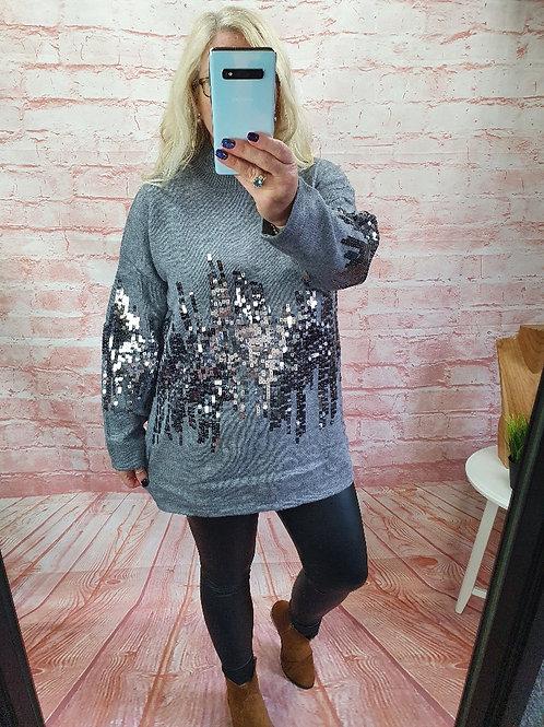 The Skyline Sequin Knitted Jumper - Sale Item - NO RETURN